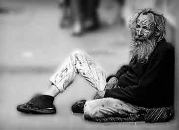 Homeless Person End Of Road