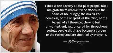 Poverty and Illness Mother Theresa