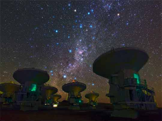 Telescope Array doing Long BaseLine Interferometry